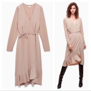 Aritzia Dresses - Aritzia Wilfred Josie mid length wrap dress sz XXS